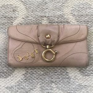 Juicy Couture pink leather wallet